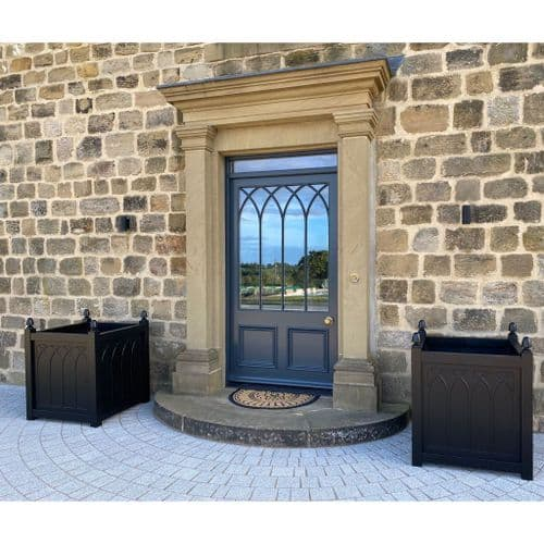 Large Gothic Style Planter - Wooden Garden Planters Accoya