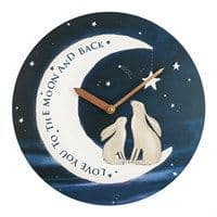 'Love You To The Moon and Back' Clock