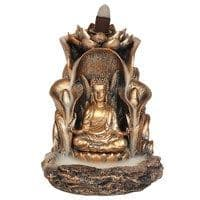 Buddha Bronze Meditation BACKFLOW Incense Cone Burner
