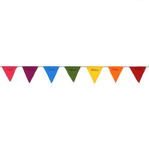 Bunting~ Hippy Bohemian Triangle Rainbow Affirmation Flag Bunting~ By Folio Gothic Hippy BA063