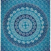 Elephant Cotton Wallhanging/ Tapestry 140x220cm