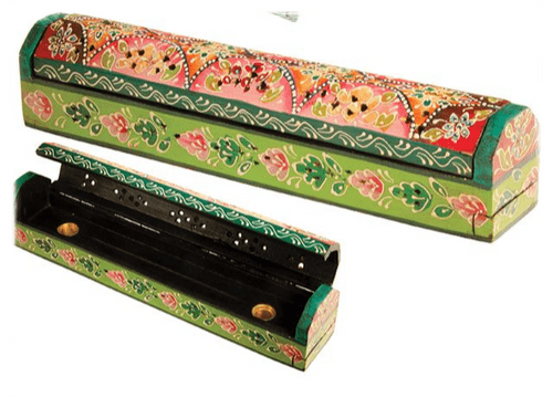 Hand painted Wooden Incense Box