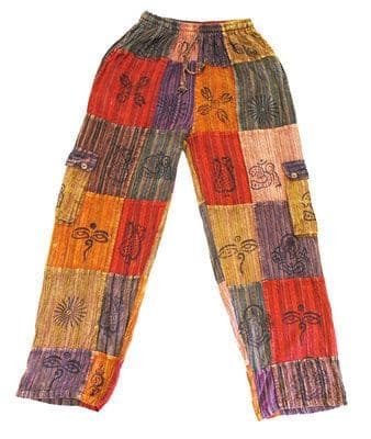 Stripey Patchwork Trousers~Fair Trade