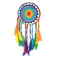 XL Rainbow Crochet Dreamcatcher