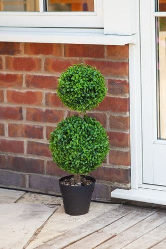Faux Duo Topiary Tree