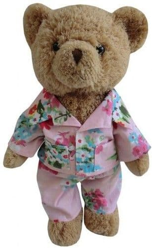 Teddy Bear in Pink Floral Pyjamas- 30cm