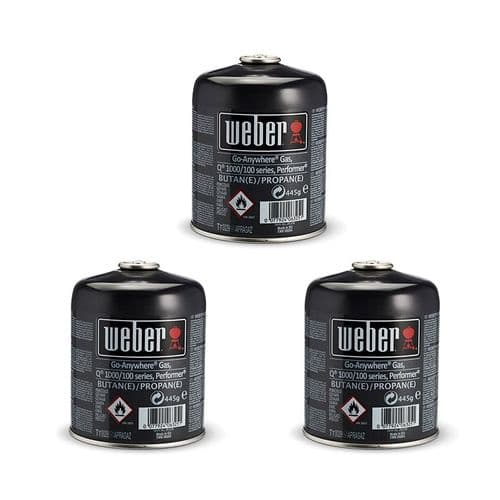 Weber Disposable Gas Canister - Triple Pack