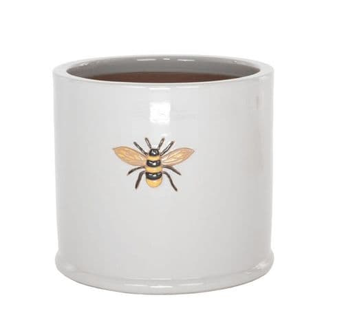 Wisteria Bumble Bee Pot- Grey