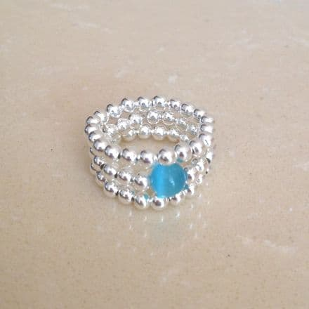 3 Beaded Stacker Rings