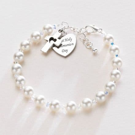 Any Engraving - First Holy Communion Bracelet