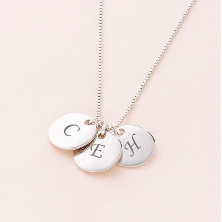 Any Letters, Real Silver Necklace (up to 5 letters)