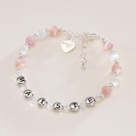 Any Name Bracelet with Message Charm