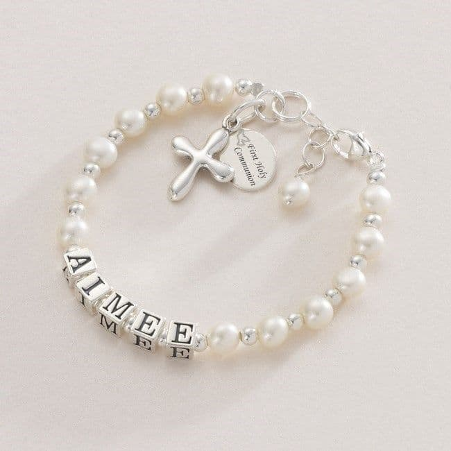Any Name - Personalised First Holy Communion Bracelet | Jewels 4 Girls