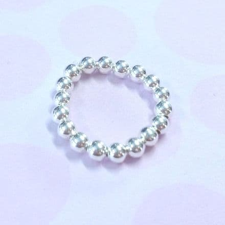 Beaded Single Stacker Ring