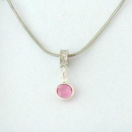Birthstone Channel Necklace in Special Gift Box