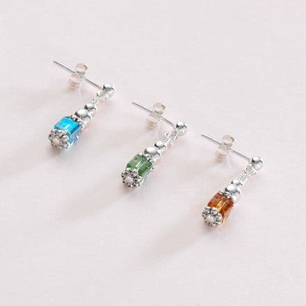 Birthstone Cube Earrings