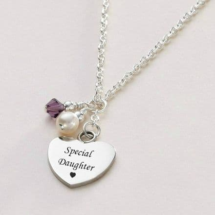 Birthstone & Pearl Personalised Necklace