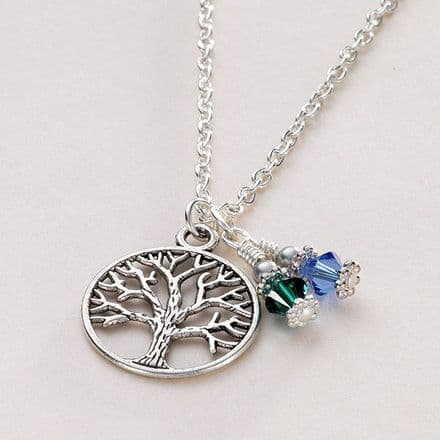 Birthstone Tree of Life Necklace