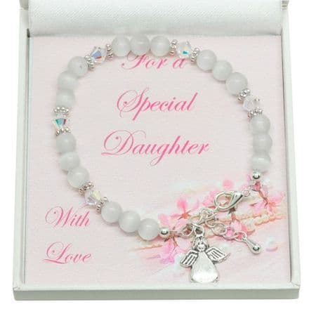 Bracelet for Girl, Choice of Charm & Colour, for Daughter etc