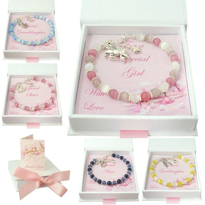 Bracelets for Girls with Choice of Charm and Colour | Jewels 4 Girls