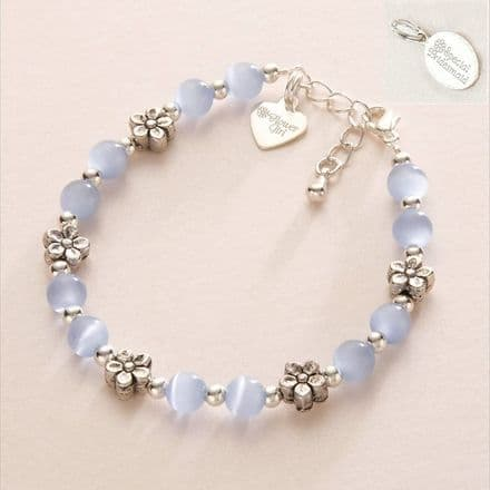 Bridesmaid or Flower Girl Bracelet with Engraved Tag