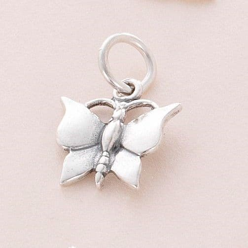 Butterfly Charm, Sterling Silver | Jewels 4 Girls