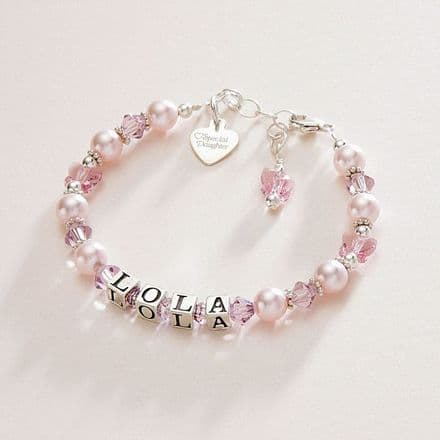 Butterfly Kisses Personalised Name Bracelet