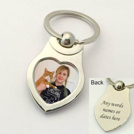 Cat Keyring with Cat Photo and Engraving