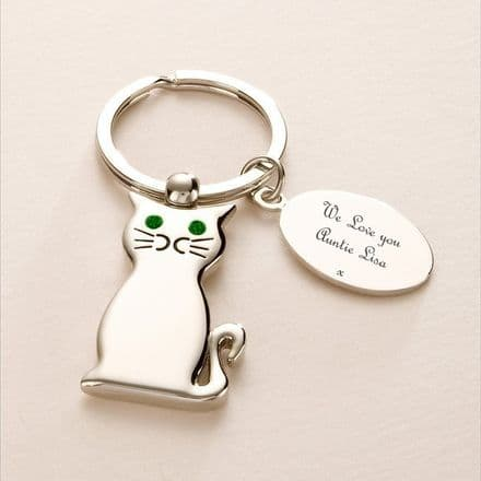 Cat Keyring with Engraving