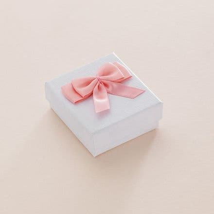 Charm Gift Box with Pink or Blue Bow