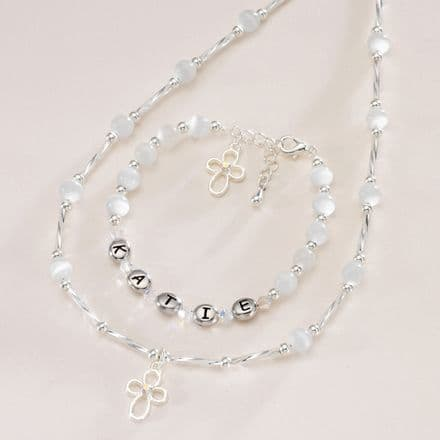 Christening Day Personalised Jewellery Set for Girls