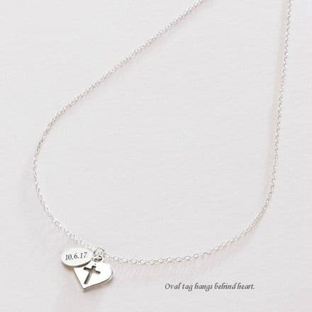 Christening Necklace with Engraved Tag