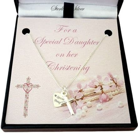Christening Necklace with Tag & Card Choice