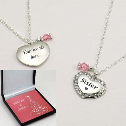 Christmas Birthstone Necklace Sister, Mum, Auntie etc