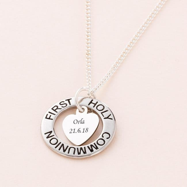 Communion Day Ring Necklace with Engraving | Jewels 4 Girls