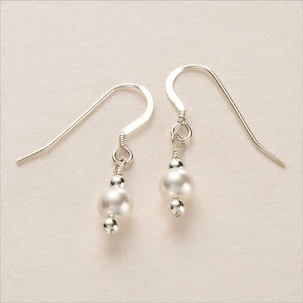Dangly Pearl Earrings, Silver or Gold, Many Colours.
