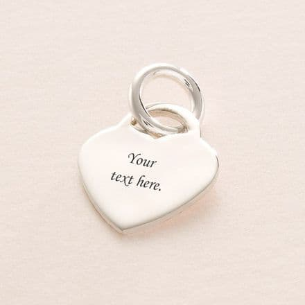 Engravable Heart Charm ref CH3 19mm x 17mm