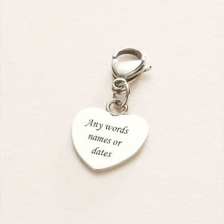 Engravable Heart on Lobster - Stainless Steel 17mm x 17mm