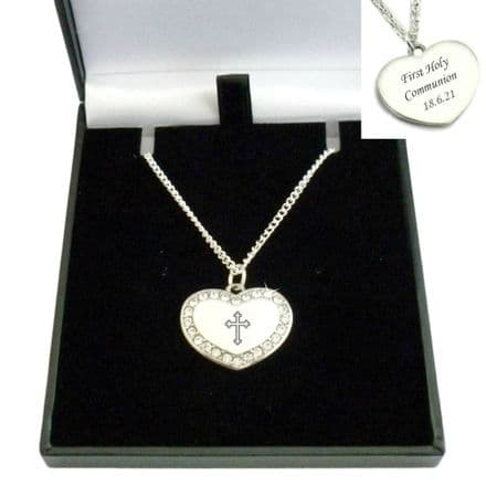 Engraved First Holy Communion Necklace
