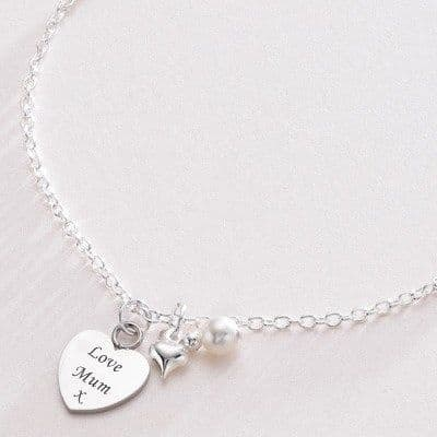 Engraved Heart, Pretty Personalised Necklace