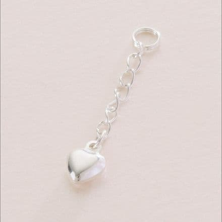 Extension Chain Sterling Silver Heart.