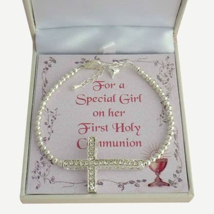Fashionable First Holy Communion Bracelet with Card Choice