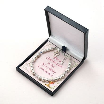First Holy Communion Bracelet with Card Choice