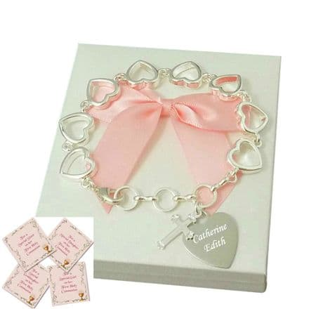 First Holy Communion Bracelets for Girls with Engraving