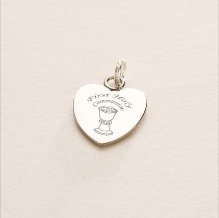 First Holy Communion Chalice Charm - Free Reverse Engraving