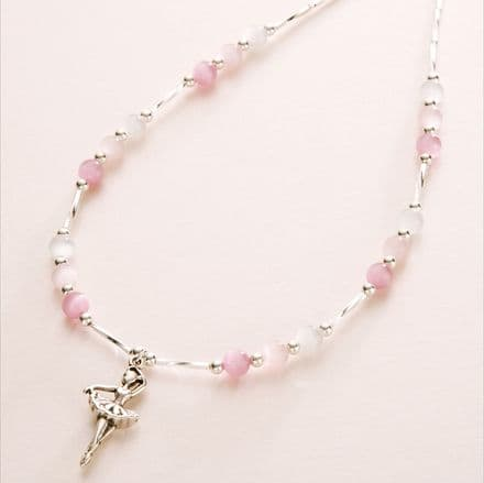 Girls Ballerina Necklace