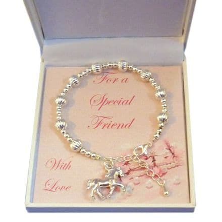 Girls Bracelet, Choice of Charm, For Friend, Sister etc