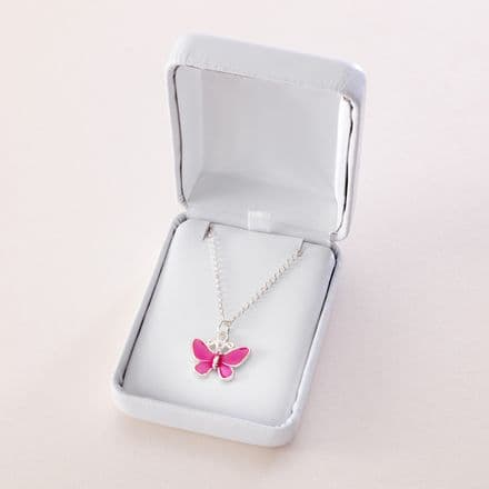 Girls Butterfly Necklace, Colour Choice