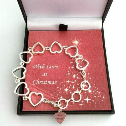Girls Christmas Bracelet with Charm for Niece, Granddaughter etc