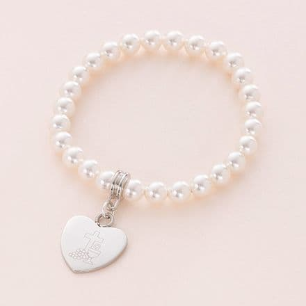 Girls First Communion Bracelet with Card Choice